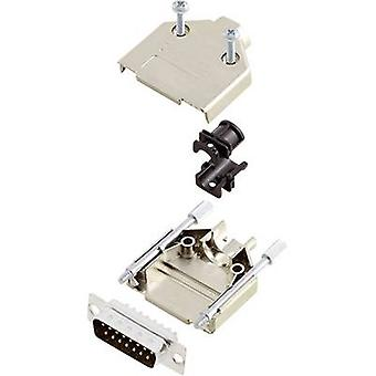 encitech DTPK-M-15-DBP-K 6355-0030-02 D-SUB juego de tiras de pasador 180o Número de pines: 15 Cubo de soldadura 1 Conjunto