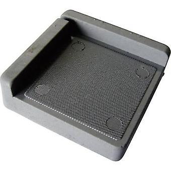 Almofada de PB prendedor 121845 antivibração Grey (L x W x H) 75 x 75 x 25 mm 1 computador (es)