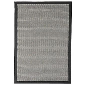 Открытый ковер для Терраса / Балкон черный серый Essentials хром черный 135 / 190см ковер крытый / открытый - в помещении и на открытом воздухе