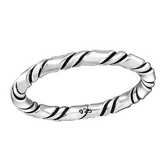 Seil - 925 Sterling Silber Plain Ringe - W37946X