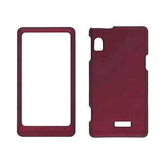 Soft Touch fallet för Motorola Droid 2 A955, A954 - röd