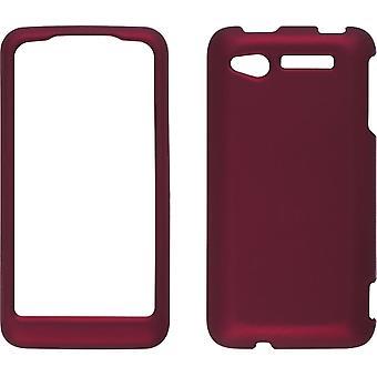 Toque macio Snap-em caso de soluções sem fio para HTC Merge - vermelho