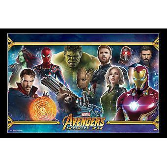 Avengers Infinity krig - Team affisch Skriv
