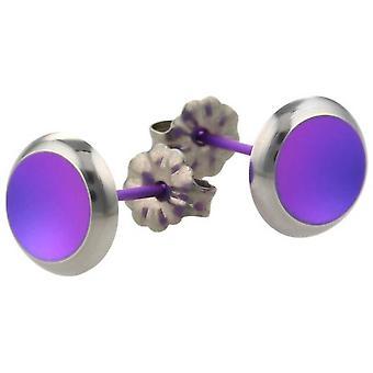 Ti2 Titanium Stud Earrings - Imperial Purple