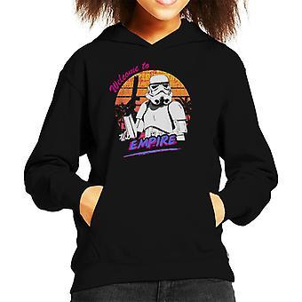 Felpa con cappuccio originale Stormtrooper 80s Retro Benvenuti al ragazzo di Impero