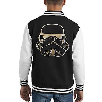Opprinnelige Stormtrooper-hjelm gull folie barneklubb Varsity jakke