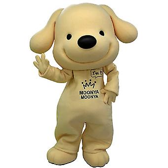 SPOTSOUND of yellow and black, very smiling dog mascot