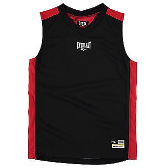 Everlast lapset koripallo Jersey Junior Boys V kaula Hihaton Sports Top