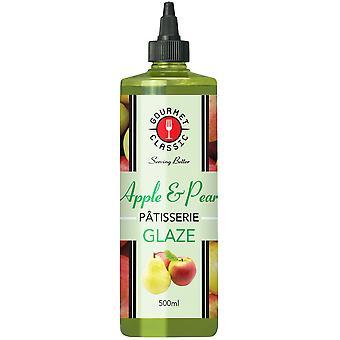 グルメ古典的なリンゴと梨のパティスリー釉