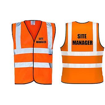 Hi Viz Orange Vis confère Site Manager