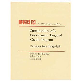 Duurzaamheid van een regering gericht krediet programma: bewijs uit Bangladesh
