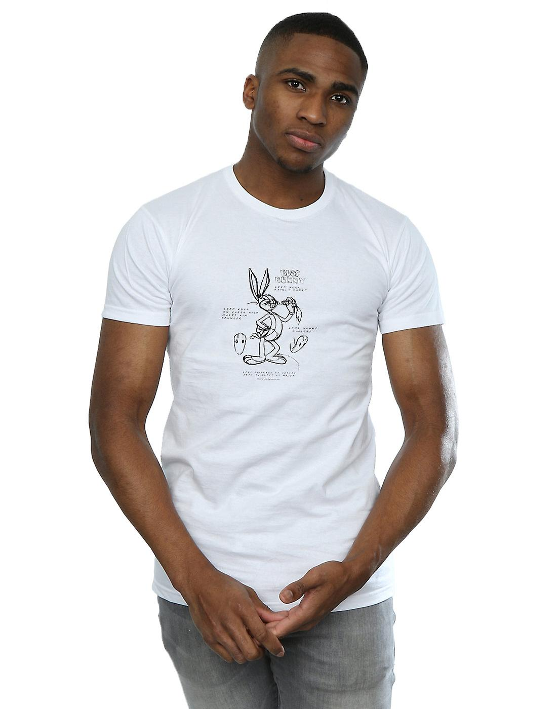 Looney Tunes Men's Bugs Bunny Drawing Instruction T-Shirt
