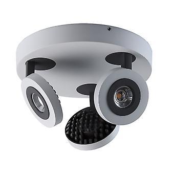 Glasberg - trois gris blancs et noir la lumière des projecteurs Led réglable sur plaque ronde 545020903