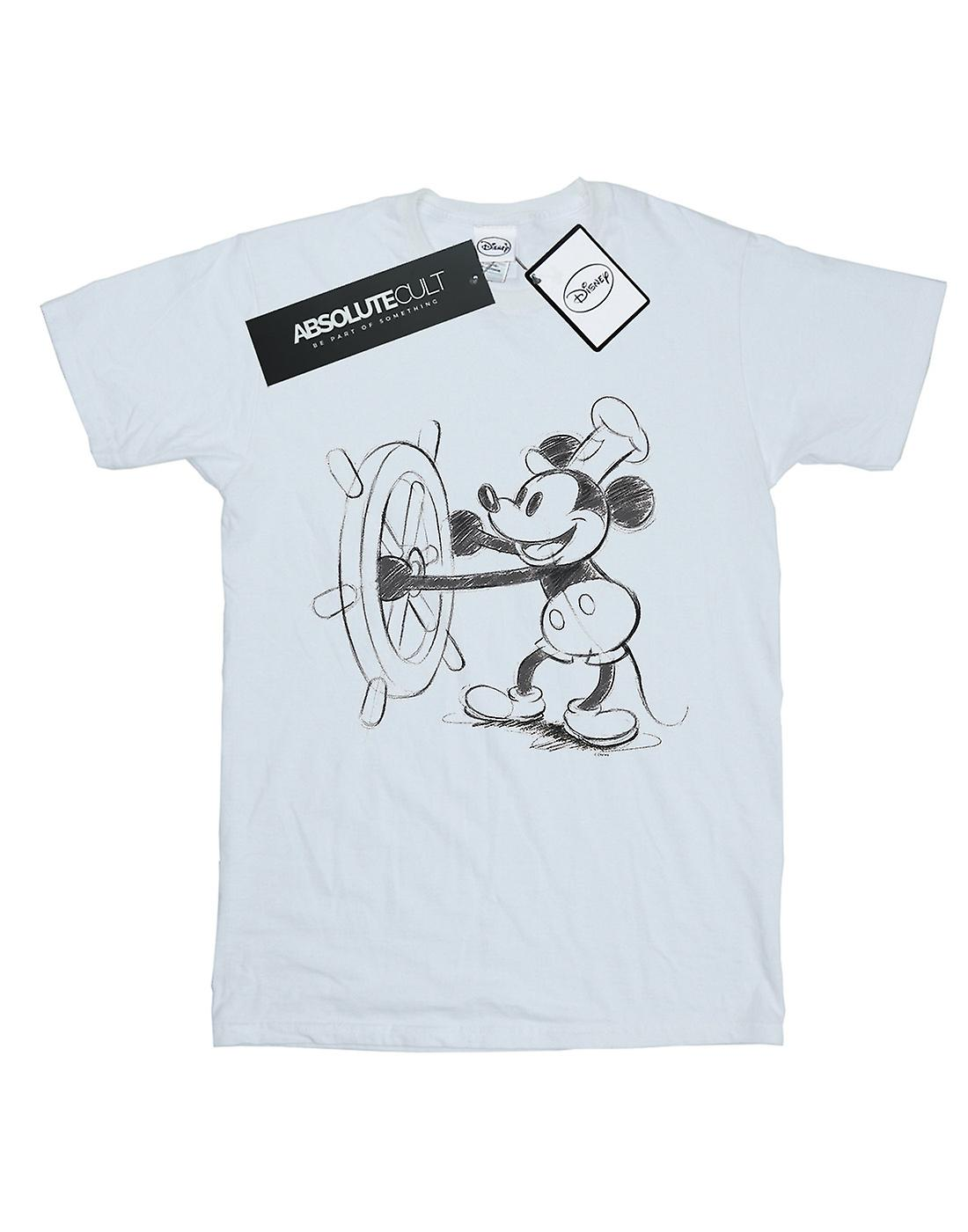 Disney Boys Mickey Mouse Steamboat Sketch T-Shirt