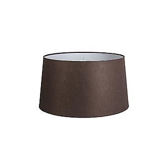 QAZQA Schatten rund 45cm DS E27 Leinen braun