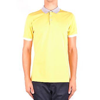 Brunello Cucinelli Ezbc002029 Men's Yellow Cotton Polo Shirt
