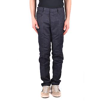 Incotex Ezbc093030 Men's Blue Wool Pants