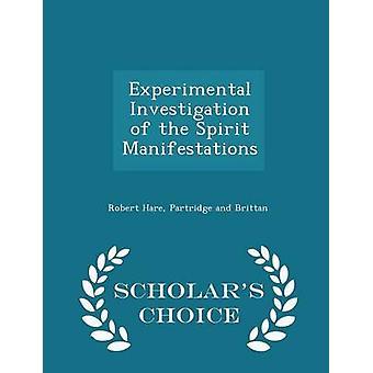 التحقيق التجريبية في مظاهرة روح العلماء الطبعة اختيار طريق هير آند روبرت