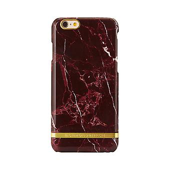 Richmond & Finch shells voor iPhone 6 plus/6s plus-rood marmer