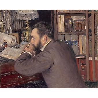 Portrait, Gustave Caillebotte, 50x40cm