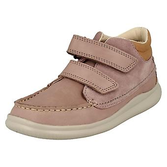 Girls Clarks Casual Ankle Boots Cloud Tuktu