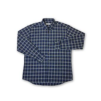 Ingram shirt in blue tartan pattern