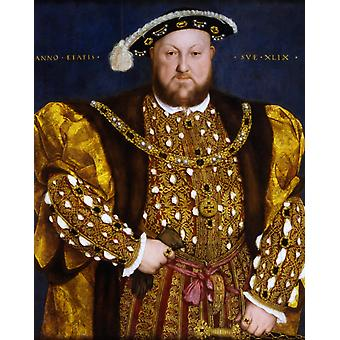 Portrait of Henry VIII, Hans Holbein the Younger, 50x40cm