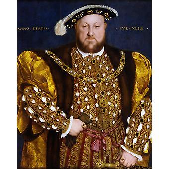 Porträt von Heinrich VIII., Hans Holbein der Jüngere, 50x40cm