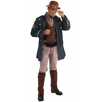 Costume steampunk général victorien Western science-fiction aventurier Mens STD