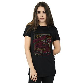 Marvel femmes Deadpool le Despicable Food Truck copain fit T-Shirt