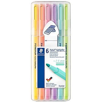 Staedtler Triplus Highlighter Pack Of 6 Assorted Colours