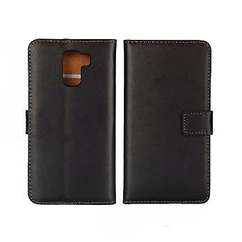 Wallet Case Huawei Honor 7, genuine leather, black