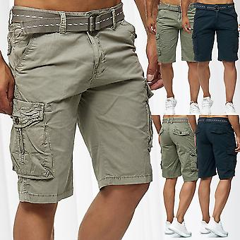 Men's Cargo Shorts Bermuda Bottoms Vintage Cotton Trousers Casual Outdoor Pants