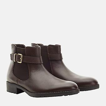 Bethany brown leather chelsea boot