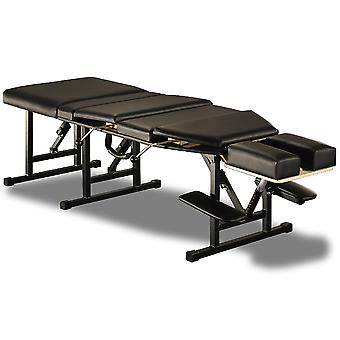 Sheffield Elite Professional Portable Chiropractic Table - Pelvic & Thoracic Drops with many Adjustable Settings (Charcoal)