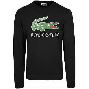 Lacoste Sport Black Logo Round Neck Jumper