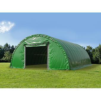 Rundbuehall 9,15x20x4,5m, PVC, Grønn