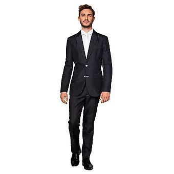 Gangster 20s Pinstripe Suit kostuum Suitmaster Slimline Economy 3-delig