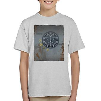 The Crystal Maze Rust Panel Kid's T-Shirt