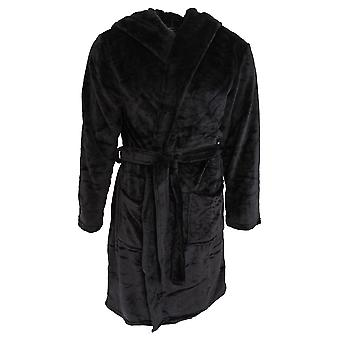 Pierre Roche Mens Soft Touch Hooded Dressing Gown
