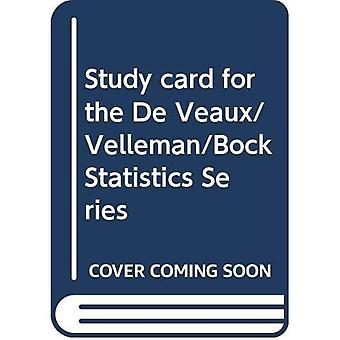 Carte d'étude pour la série de statistiques De Veaux/Velleman/Bock