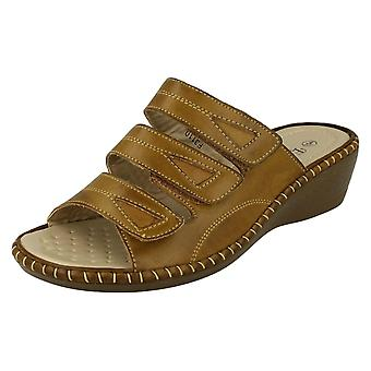 Ladies Casual Eaze Wedged Mules F3110