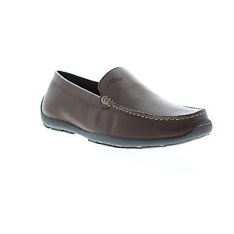 Tommy Bahama Amalfi Mens Brown Leather Low Top Mocassin Loafers Schoenen