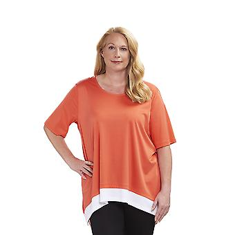 Rösch 1194644-16375 Women's Curve Soft Grapefruit Orange Pyjama Top