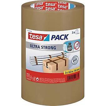 tesa 51124-08-01 Pakkausteippi tesapack® Ultra Strong Brown (L x W) 66 m x 50 mm 3 kpl