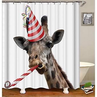 Cortina de ducha de jirafa de fiesta