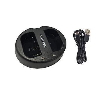 Dot.Foto DMW-BLF19, DMW-BLF19E Szybka ładowarka z podwójną baterią USB zastępuje DMW-BTC10, DMW-BTC10E dla Panasonic [Patrz opis zgodności]