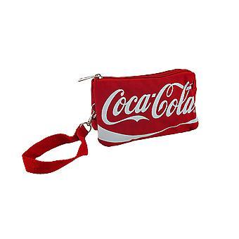 Rode Coca-Cola met rits schoudertasje portemonnee w/afneembare riem