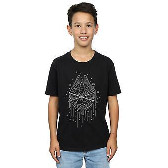 Star Wars Boys Millennium Falcon Christmas Tree Delivery T-Shirt