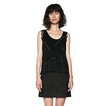 Desigual Frauen's Allison ärmelloses Stern Tshirt